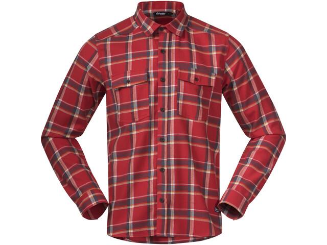 Bergans Tovdal Shirt Men, red sand check